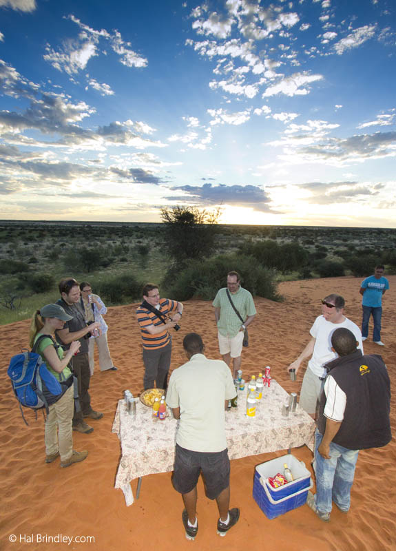 Sundowner bar in the Kalahari