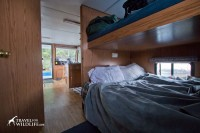 Our cozy bed on the houseboat