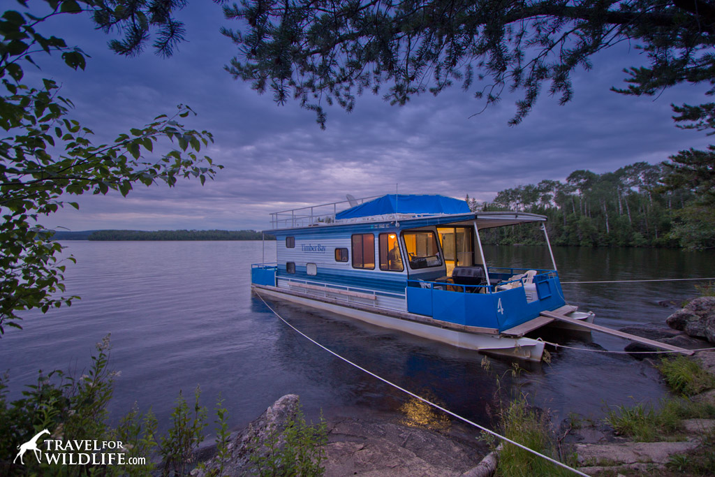 Staying on houseboat on Birch Lake near Babbitt, Minnesota while the loons call in the night. (Timber Bay Lodge & Houseboats)