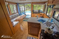 The kitchen and dining are on our houseboat