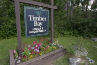 Timber Bay Lodges & Houseboats sign